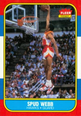 1986 Fleer Spud Webb #120 Basketball Card