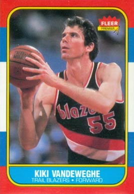 1986 Fleer Kiki Vandeweghe #117 Basketball Card