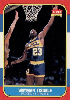 1986 Fleer Wayman Tisdale #113 Basketball Card