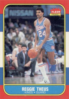 1986 Fleer Reggie Theus #108 Basketball Card