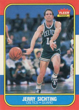 1986 Fleer Jerry Sichting #101 Basketball Card