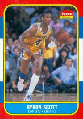 1986 Fleer Byron Scott #99 Basketball Card