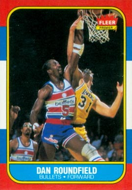 1986 Fleer Dan Roundfield #95 Basketball Card