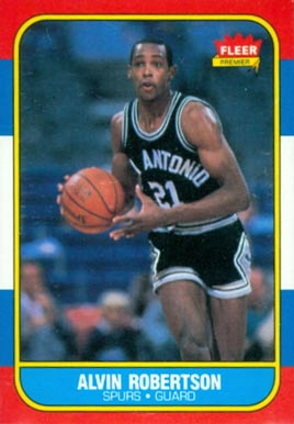 1986 Fleer Alvin Robertson #92 Basketball Card