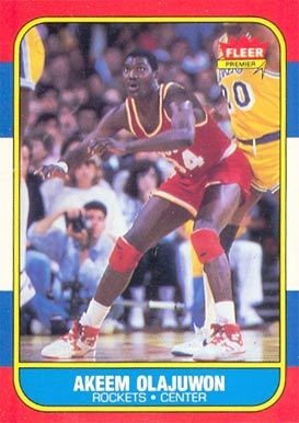 1986 Fleer Akeem Olajuwon #82 Basketball Card