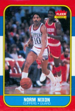 1986 Fleer Norm Nixon #80 Basketball Card