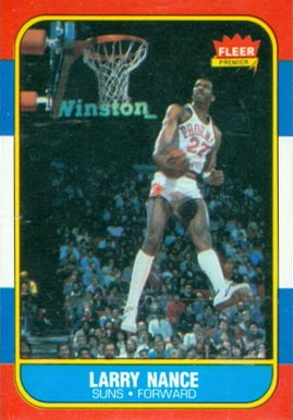 1986 Fleer Larry Nance #78 Basketball Card
