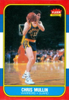 1986 Fleer Chris Mullin #77 Basketball Card