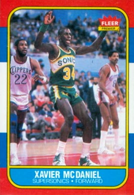 1986 Fleer Xavier McDaniel #72 Basketball Card
