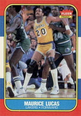 1986 Fleer Maurice Lucas #66 Basketball Card