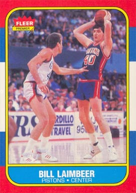 1986 Fleer Bill Laimbeer #61 Basketball Card