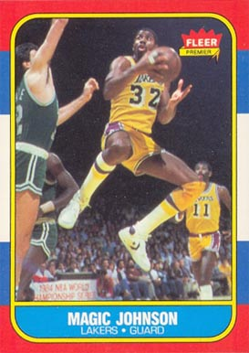 1986 Fleer Magic Johnson #53 Basketball Card