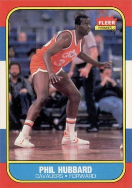 1986 Fleer Phil Hubbard #48 Basketball Card
