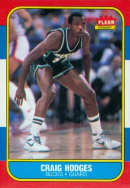 1986 Fleer Craig Hodges #47 Basketball Card