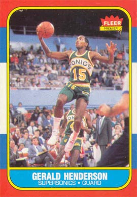 1986 Fleer Gerald Henderson #45 Basketball Card