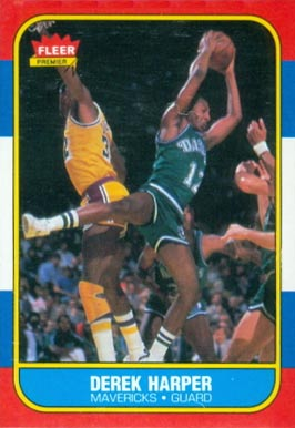 1986 Fleer Derek Harper #44 Basketball Card