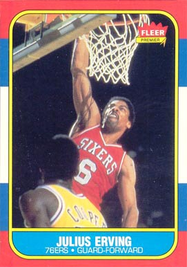 1986 Fleer Julius Erving #31 Basketball Card