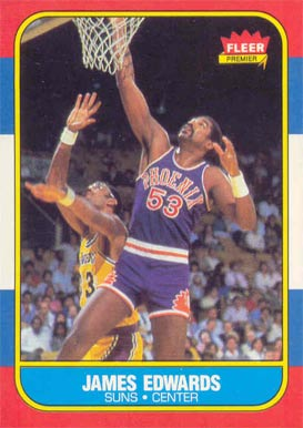 1986 Fleer James Edwards #29 Basketball Card