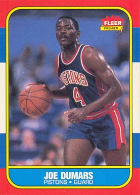 1986 Fleer Joe Dumars #27 Basketball Card