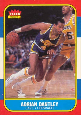 1986 Fleer Adrian Dantley #21 Basketball Card