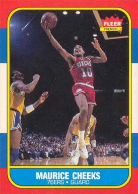 1986 Fleer Maurice Cheeks #16 Basketball Card