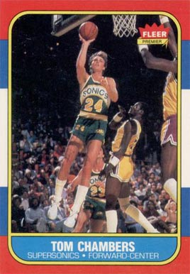 1986 Fleer Tom Chambers #15 Basketball Card