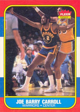 1986 Fleer Joe Barry Carroll #14 Basketball Card