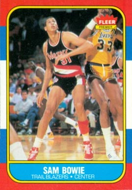 1986 Fleer Sam Bowie #13 Basketball Card