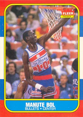 1986 Fleer Manute Bol #12 Basketball Card