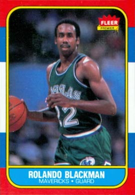 1986 Fleer Rolando Blackman #11 Basketball Card