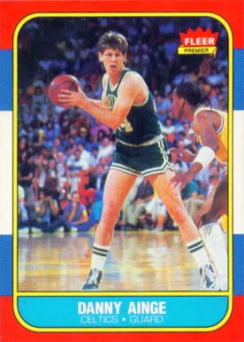 1986 Fleer Danny Ainge #4 Basketball Card