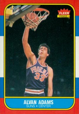 1986 Fleer Alvan Adams #2 Basketball Card