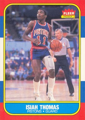 1986 Fleer Isiah Thomas #109 Basketball Card