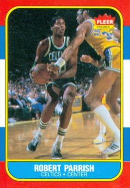 1986 Fleer Robert Parish #84 Basketball Card