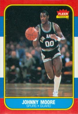 1986 Fleer Johnny Moore #76 Basketball Card