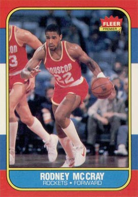1986 Fleer Rodney McCray #71 Basketball Card