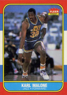 1986 Fleer Karl Malone #68 Basketball Card