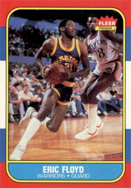 1986 Fleer Sleepy Floyd #34 Basketball Card