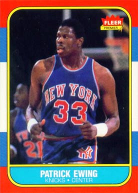1986 Fleer Patrick Ewing #32 Basketball Card
