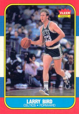 1986 Fleer Larry Bird #9 Basketball Card