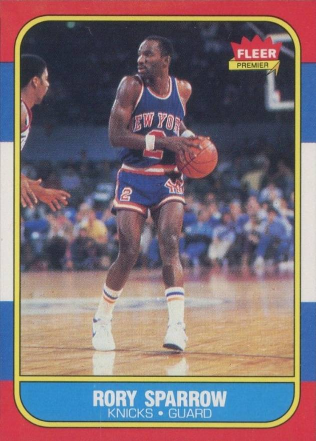 1986 Fleer Rory Sparrow #105 Basketball Card