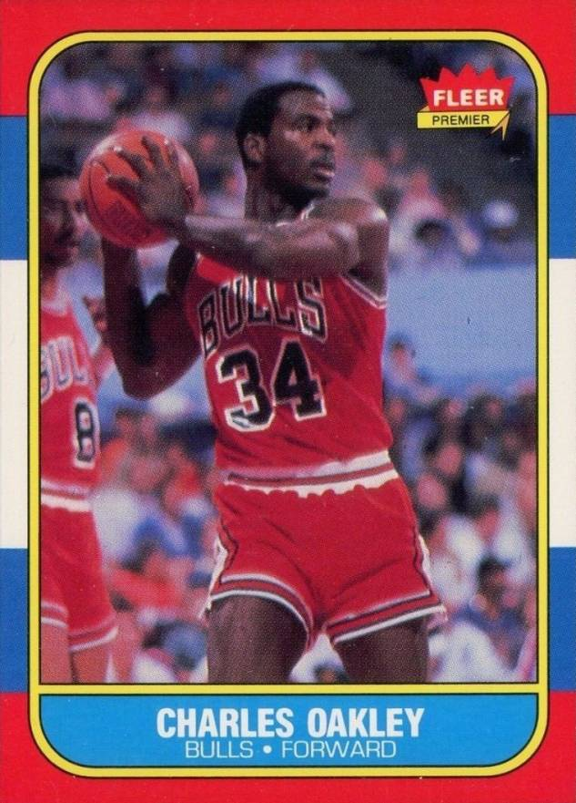 1986 Fleer Charles Oakley #81 Basketball Card