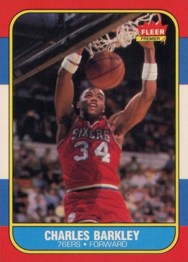 1986 Fleer Charles Barkley #7 Basketball Card