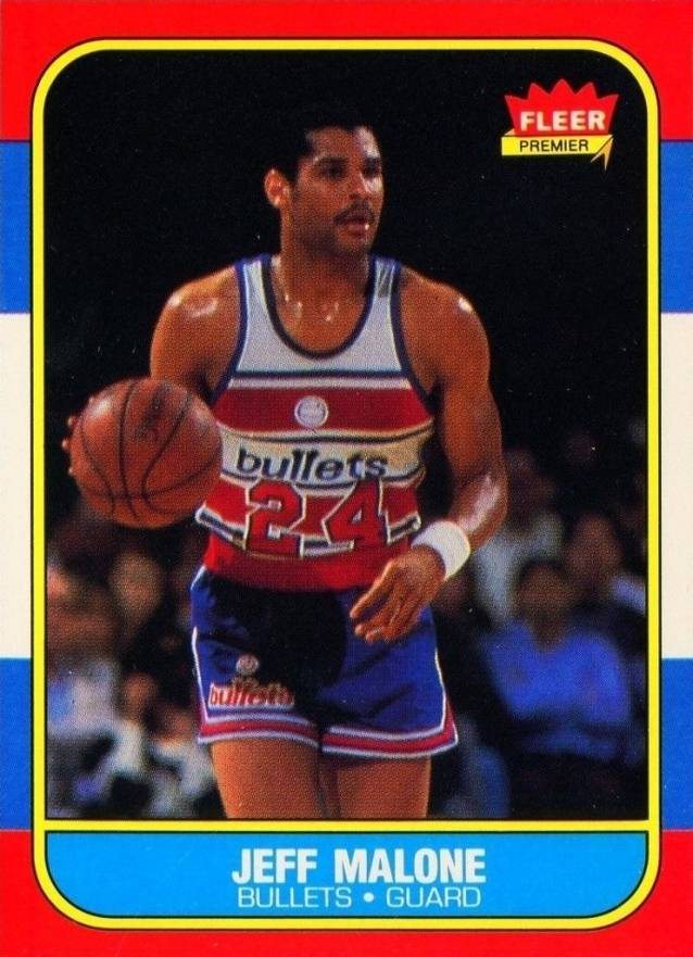1986 Fleer Jeff Malone #67 Basketball Card