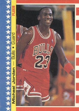 1987 Fleer Sticker Michael Jordan #2 Basketball Card