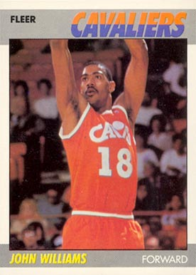 1987 Fleer Hot Rod Williams #123 Basketball Card