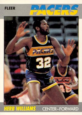 1987 Fleer Herb Williams #121 Basketball Card