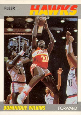 1987 Fleer Dominique Wilkins #118 Basketball Card