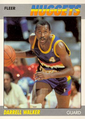 1987 Fleer Darrell Walker #117 Basketball Card