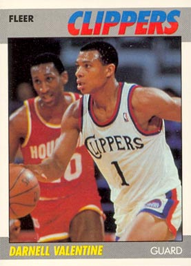 1987 Fleer Darnell Valentine #115 Basketball Card